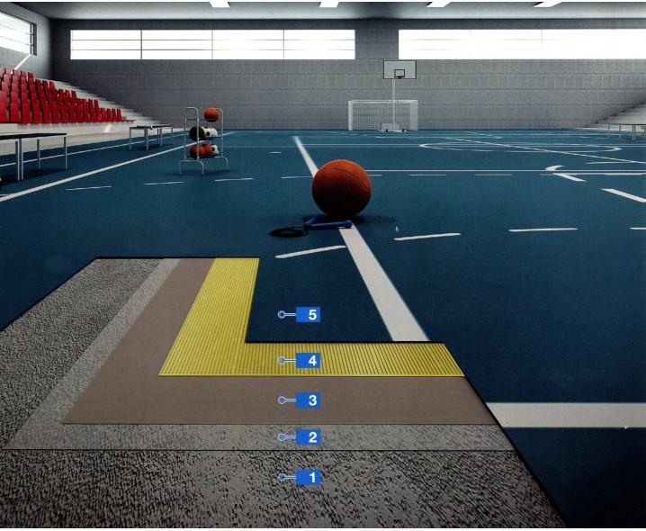 """Система EC1 и """"Der Blaue Engel"""" для укладки спортивных ПВХ покрытий в спортзалах"""