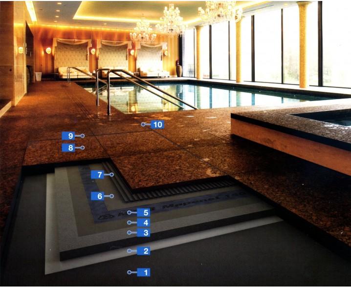 Система для укладки натурального камня во влажной среде