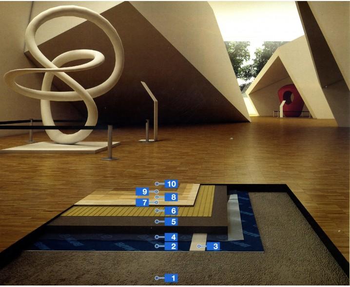 Ультрабыстрая звукоизоляционная система для укладки мозаики из дерева