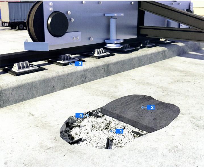 Ремонт бетонных полов и анкерное крепление ходовых путей мостовых кранов