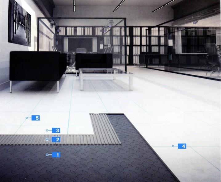Система для укладки керамической плитки на металлические поверхности