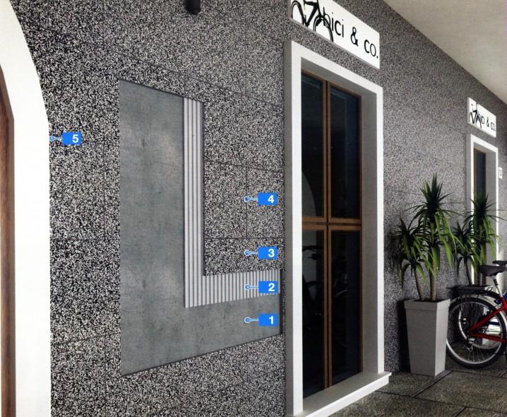 Системы для укладки крупноформатного натурального камня на фасады