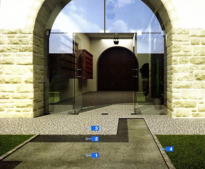 Система для пола снаружи, при помощи вяжущего на основе полиуретановых смол для натуральных каменных заполнителей