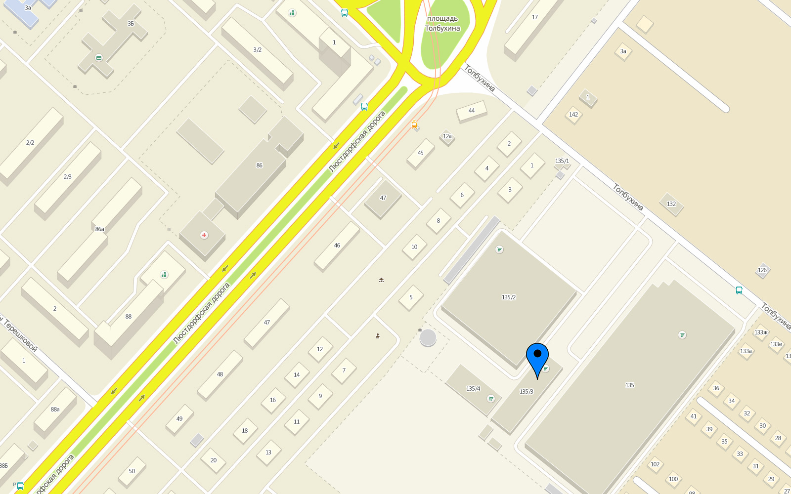 Карта проезда Успех Плюс, ТЦ Мегадом